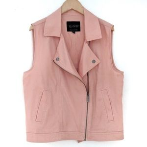 Sanctuary Peach Colored Moto Style Vest